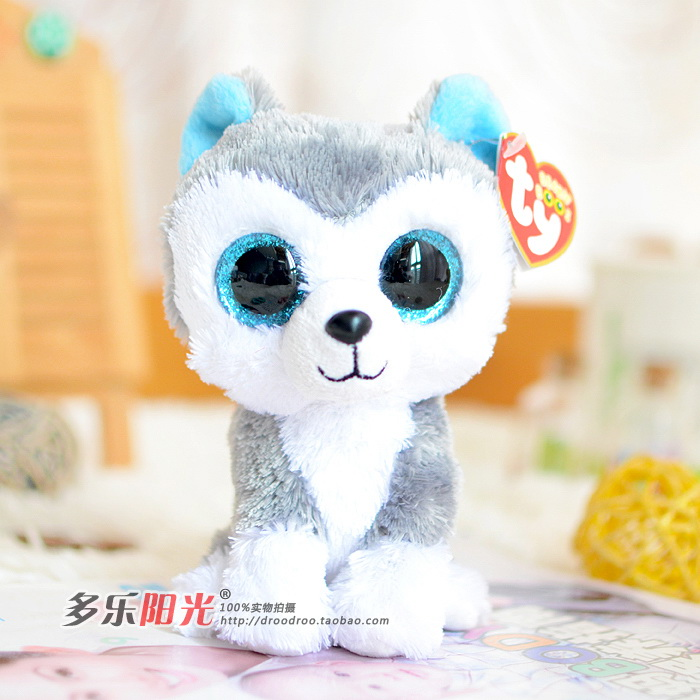 Ty Beanie Boos big eyes 2015 colorful Husky dog plush toy doll gift Lovely Children's toys gifts Stuffed Animals cute plush toys(China (Mainland))