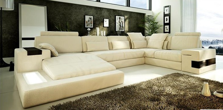 Witte Woonkamer Set : bankstel leren bank hoekbank meubelen sofa ...