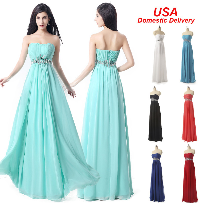 In Stock Long Elegant Evening Dresses 2015 Beaded Special Occasion Dresses Evening Dresses Gown Chiffon Pleat Real Picture SD175(China (Mainland))