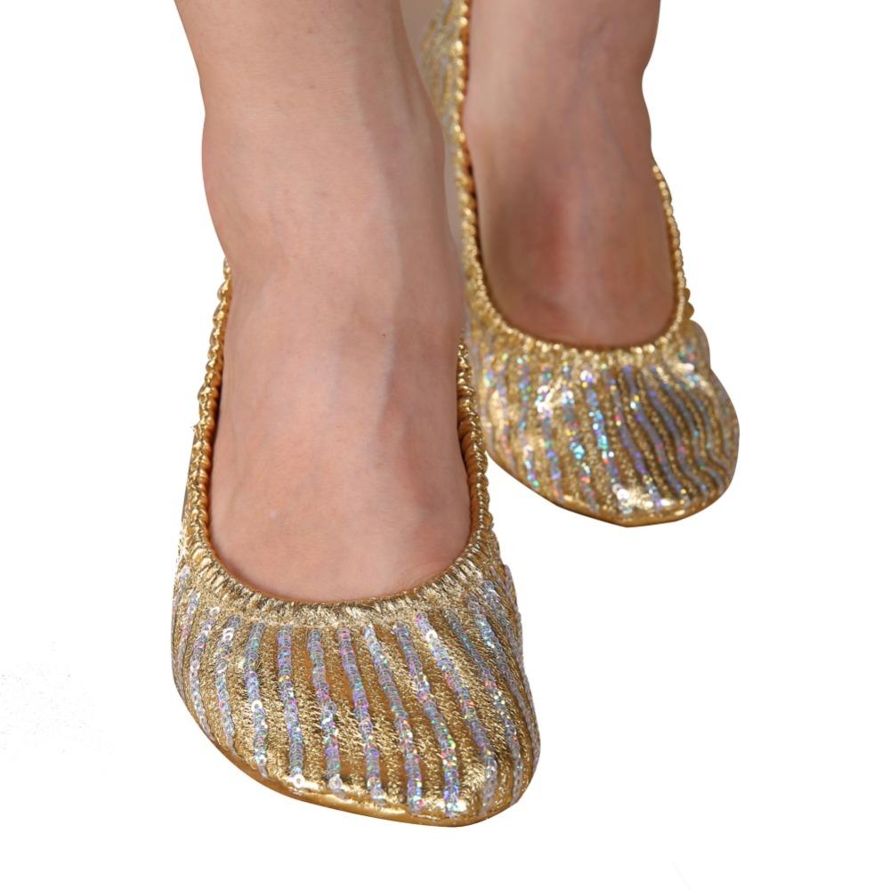 Women Girl Belly Dance Shoes Slipper Flat Ballet Gymnastics Dancing Shoes(China (Mainland))