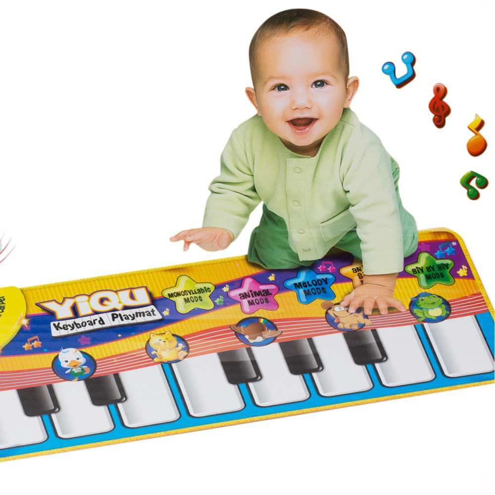Baby Music Sport Play Mat 72*28cm 0-3 Years Kids Piano Keyboard for Animal Toys Carpet Crawling Mats(China (Mainland))