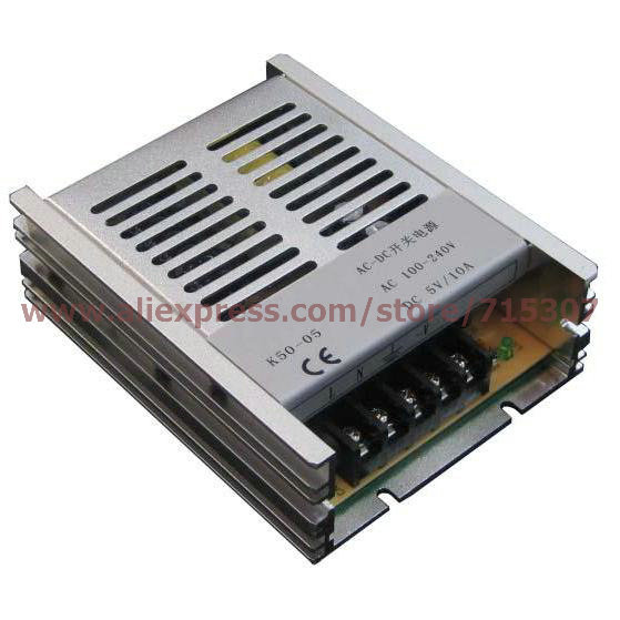 Leetone K50-05 50W switching power supply 5V 10A high efficiency 100-240VAC input with OVP & OTP for 3 years warranty(China (Mainland))
