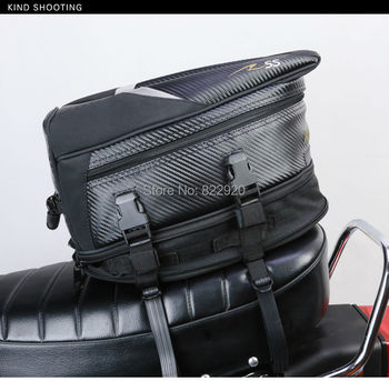 2016 new model free shipping motorcycle last bag tail bag racing bag about 18.5 L black color RR9014 send waterproof cover