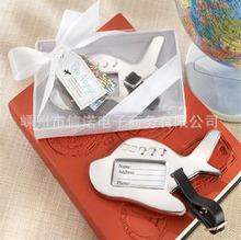 Hot Sale,10pcs Plane Luggage Tag Best Wedding Favor Gift(China (Mainland))