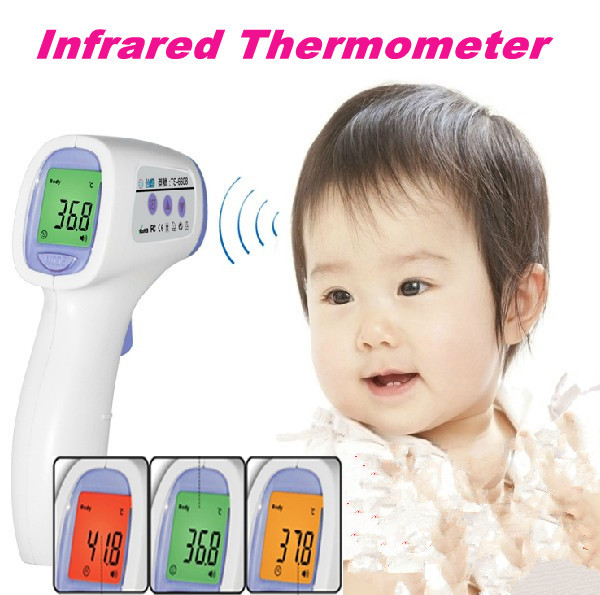 100% Brand Baby Infrared Thermometer accurate Non contact thermometer LCD digital thermometer new IR forehead thermometer JM143(China (Mainland))
