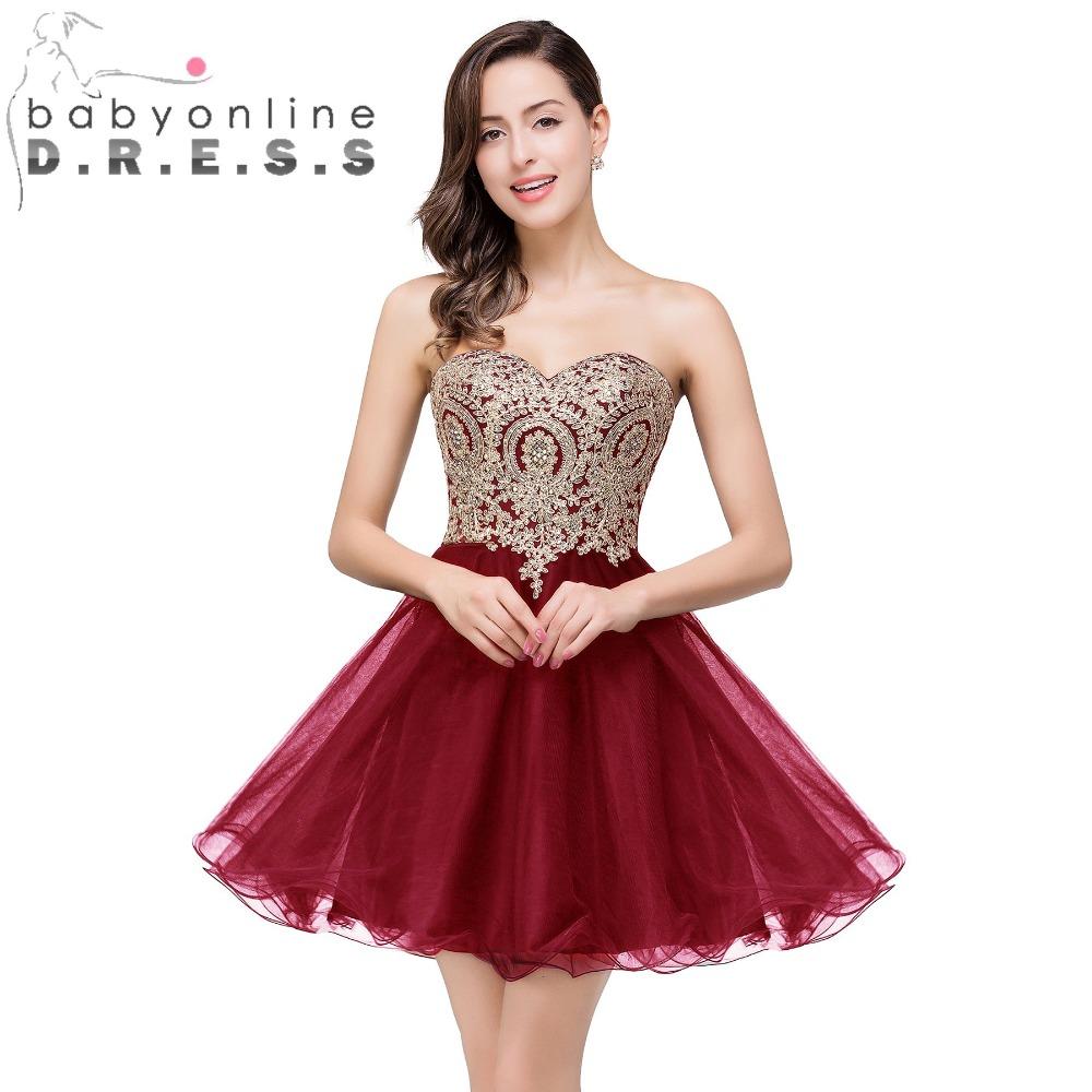 New arrival robe de soire burgundy purple short prom for Robe de soir