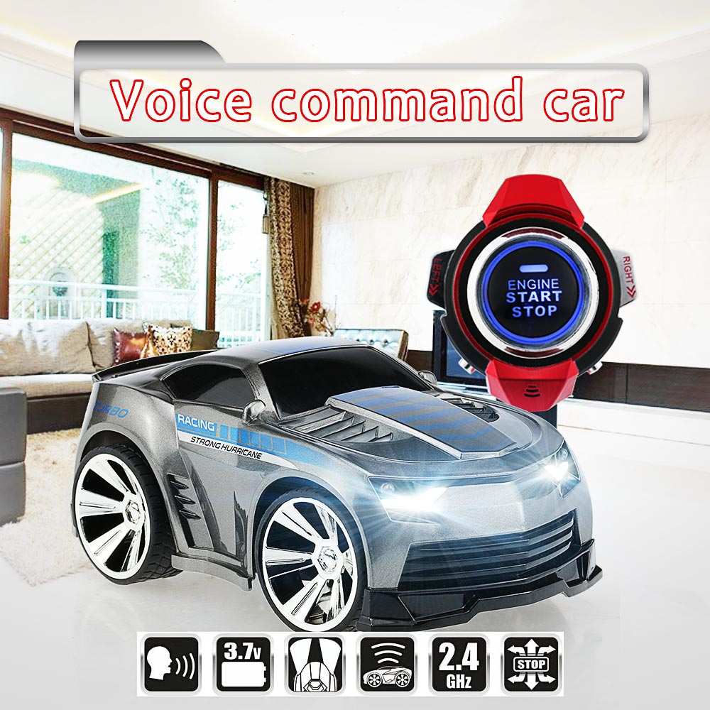 Original R-101 1/30 2.4Ghz RC Car with Smart Watch Voice Command Function LED Head Lights RC Cars Model Toys(China (Mainland))
