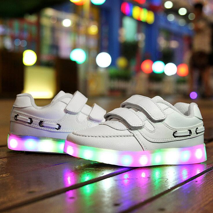 2016 Top quality Children shoes LED  luminous shoes Kids fashion sneakers lighted sport shoes Boys Girls casual Spring Fall shoe<br><br>Aliexpress