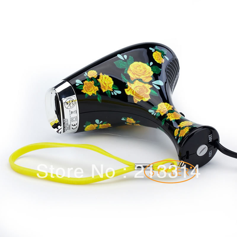 Fast shipping High Quality Corioliss Printing Hair Dryer two speed setting 120V&230V Black(China (Mainland))
