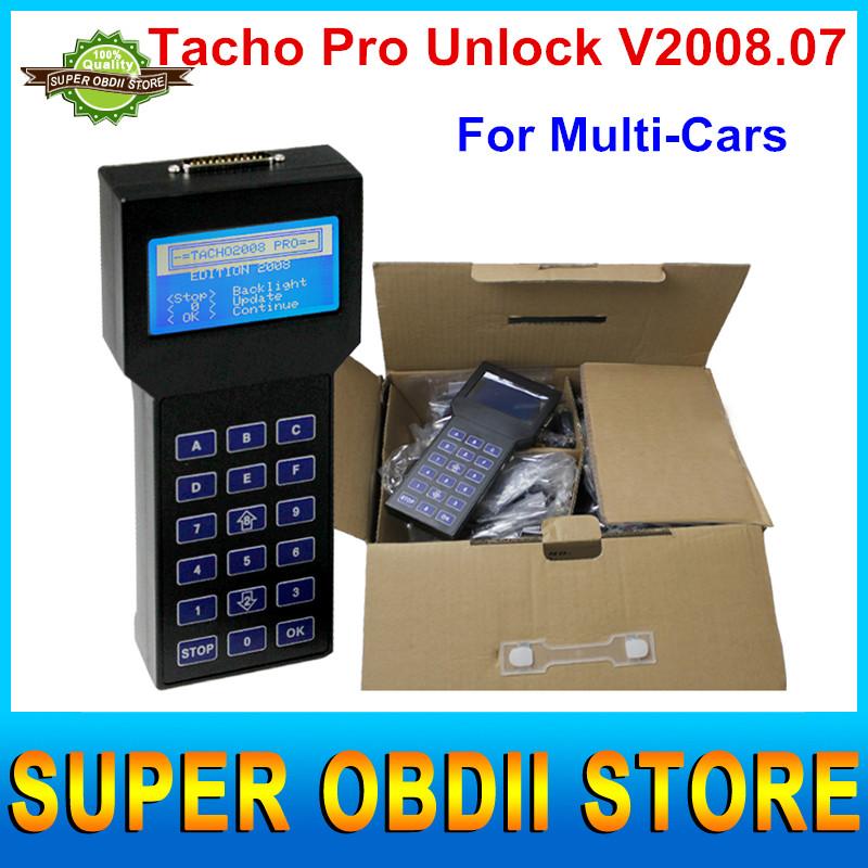 2016 New Arrival Tacho Pro 2008 Odometer Correction Tacho Universal 2008 Dash Programmer Support Multi-language DHL Free(China (Mainland))