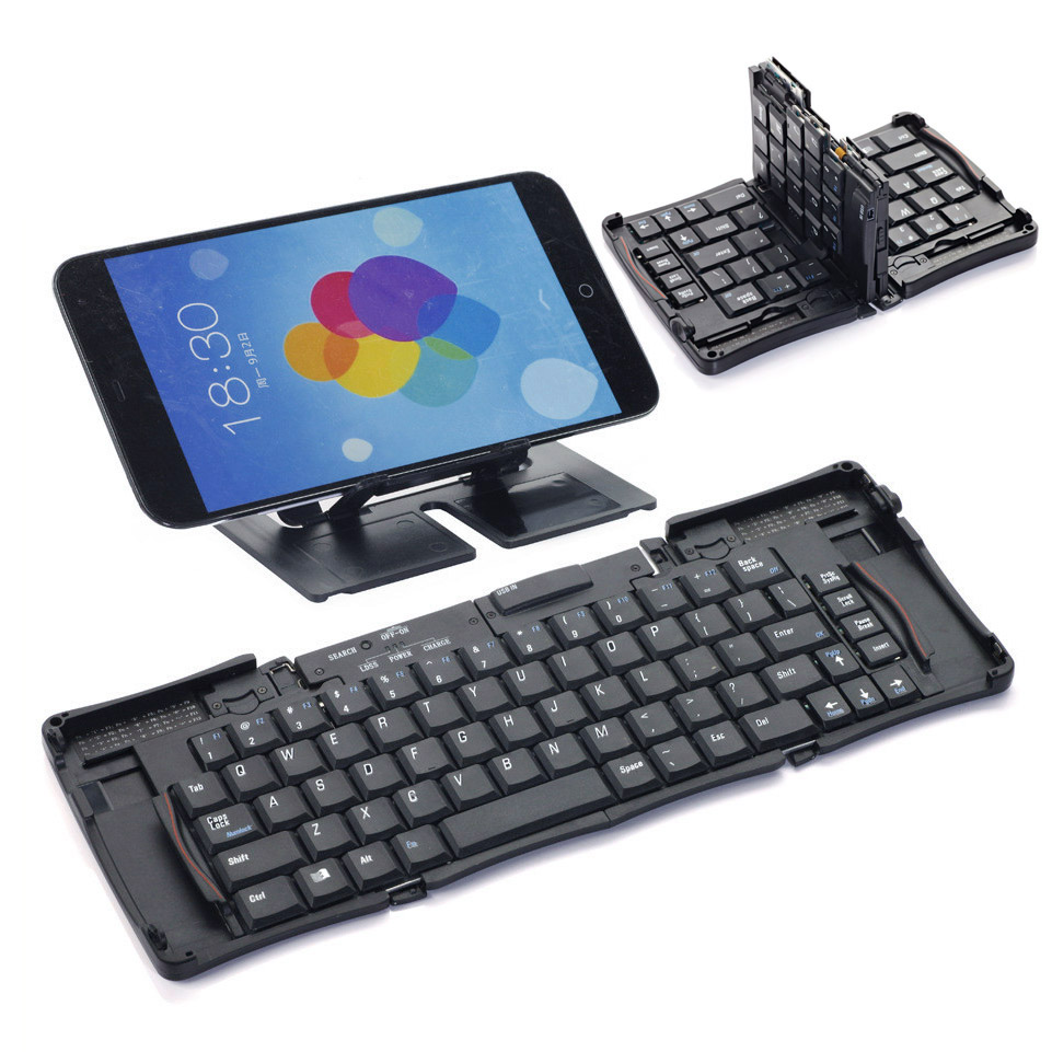 Mini Wireless Bluetooth 3.0 Keyboard Folding Foldable Keyboard for iPhone iPad iPod Touch iOS Android Smartphone Tablet(China (Mainland))