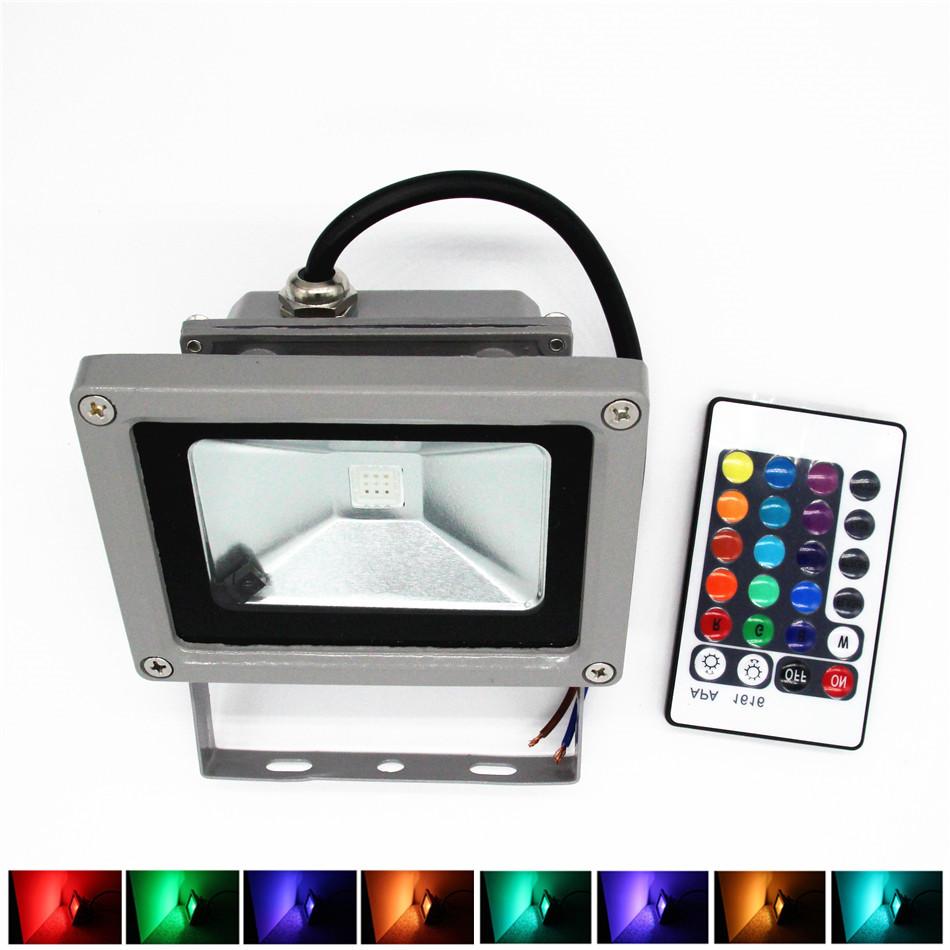 RGB LED Flood Light 10W 20W 30W 50W Foco LED Exterior Spotlight IP65 LED Outdoor Light Reflector Spot Floodlight Remote Control(China (Mainland))