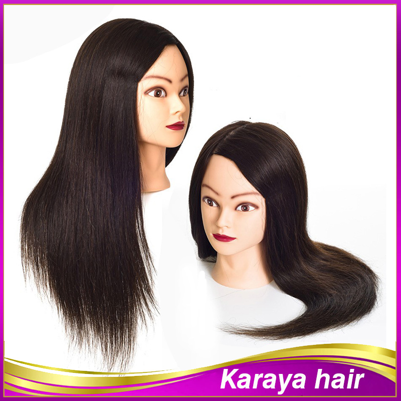 70% Human Hair Mannequin Head Hairdressing Professional