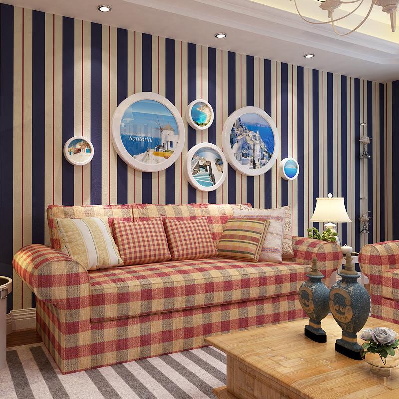 Buy discount 10m striped pattern wallpaper rolls high for Cheap wallpaper rolls