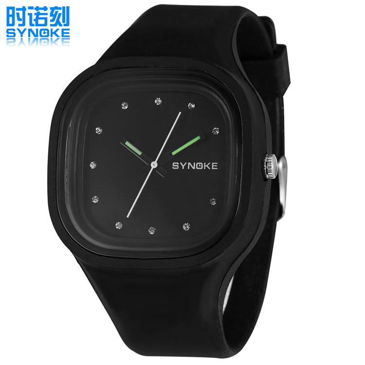 Best Selling Fashion Casual Colorful Series Square Case Unisex Quartz Wristwatch Luminous Night Light Students' Kids Gift Watch(China (Mainland))