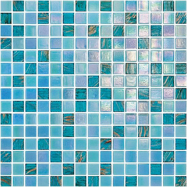 Blue iridescent glass swimming pool tile kitchen bathroom cheap mirror