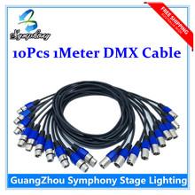 10 шт./лот DMX контроллер 1 м длина DMX кабель сигнальной линии три кабеля из светодиодов пар свет переезд головного света DMX освещение сцены