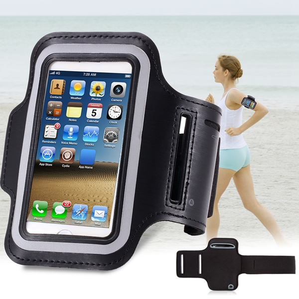 Classic Black Leisure SPORTS Armband Case for Iphone 5 5s 5g Watertight Cover With Changable Velcro Belt Phone Accessories(China (Mainland))