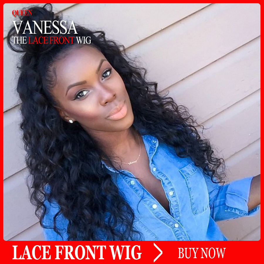 Loose Curly Wigs Synthetic Lace Front Wigs 180% Density Black Color Heat Resistant Fiber Glueless Synthetic Hair Wigs Water Wave<br><br>Aliexpress
