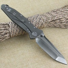 Matt TC4 titanium SOCOM D2 triangular blade Satin pocket folder mountain outdoor camping wild boar tactical