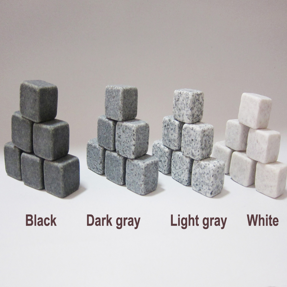 100% Natural Whiskey Stones 9pcs Set Sipping Ice Cube Whisky Stone Whisky Rock Cooler Wedding Gift Favor Christmas Bar(China (Mainland))