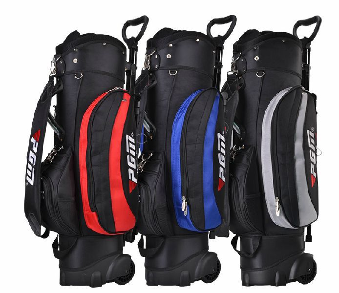 brand PGM. standard golf bag golf cart bag 13-pieces clubs contained with wheel, Super Anti-Friction and labor-saving with wheel(China (Mainland))