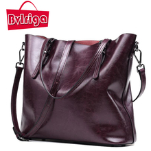 Buy BVLRIGA Genuine leather bag women messenger bags big tote luxury handbags women bags designer shoulder bags famous brands bolsos for $47.60 in AliExpress store