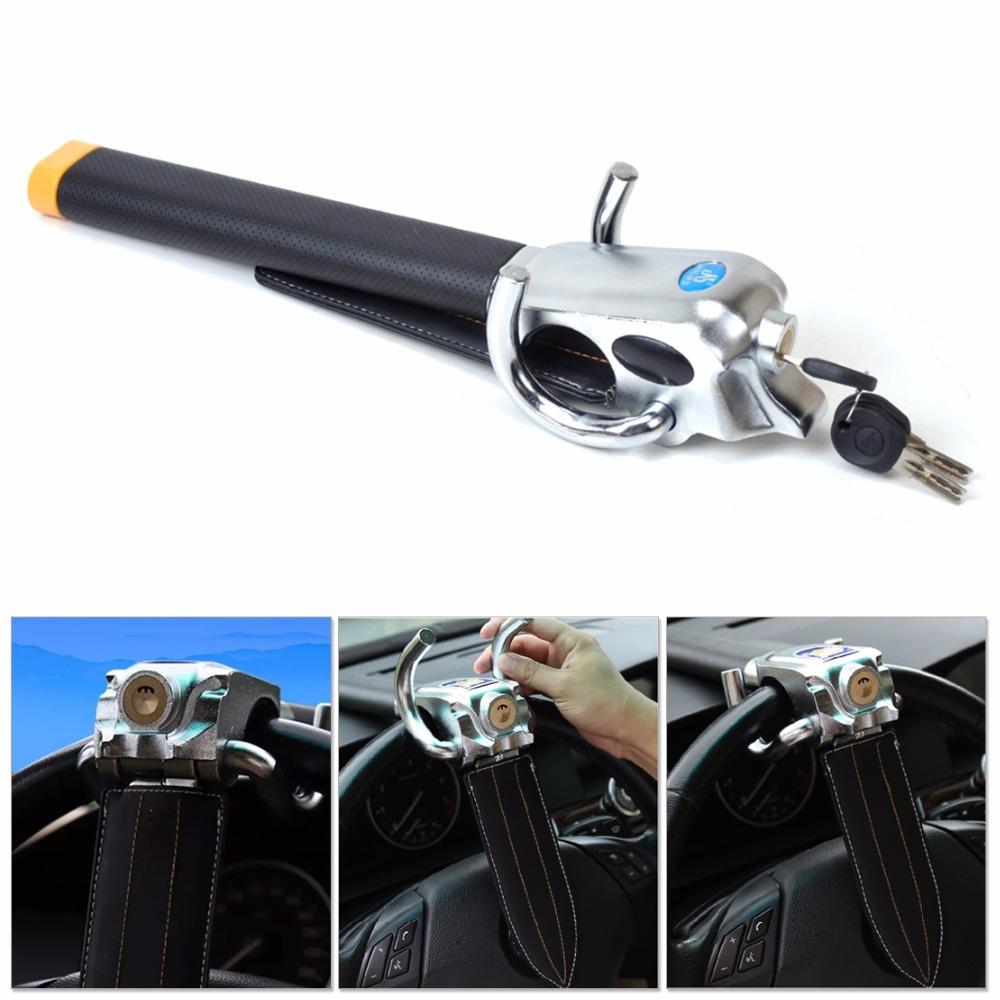 High Quality New Universal foldable car steering wheel anti-theft three-direction airbag lock Alarm Free Shipping ECA02278<br><br>Aliexpress