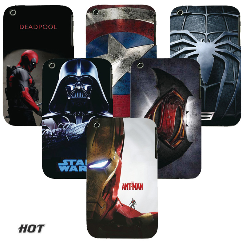 Phone Case Cover For Apple iphone 3 3G 3GS Back Cases Cool Heros Painted Printed Hard PC Mobile Phone Bags Protector(China (Mainland))