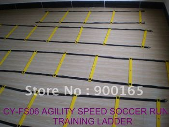 """CY-FS06-12 16""""*17' -12rungs Agility Speed Ladder For Soccer Run Training, Nylon Straps + Plastic Rungs, Free Length Adjustable"""