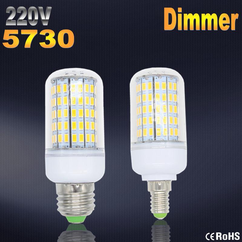 Bombillas LED Bulb E27 SMD 5730 lamparas LED Light G9 24 36 48 56 69 72 96LED Lampada E14 LED Lamp E27 220V Ampoule Candle Luz<br><br>Aliexpress