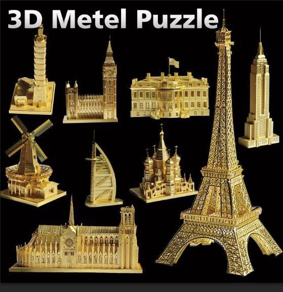 Best sell toys manufacturer shantou paiper diy 3d puzzles building model educational child adult toys(China (Mainland))