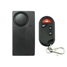 Free Shipping Black 1 Set Remote Control Bicycle Electromobile Security Vibration Warning Alarm System Bike Anti Lost Reminder(China (Mainland))