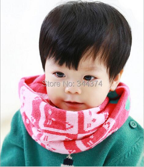1pcs2014 New Classic children's cotton scarf kids boy girl Ring Scarf Shawl Unisex Winter knitting Plutus cat Collar Neck Warmer(China (Mainland))
