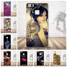Soft TPU Case For Coque Huawei P9 lite Case Silicon Cartoon Skull Cool Pattern Back Cover For Funda Huawei P9 lite Case Capa(China (Mainland))
