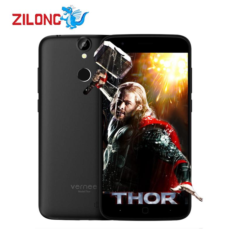 "Original Vernee Thor Cell Phones 5"" HD Android 6.0 Octa Core 1280x720 MTK6753 3GB RAM 16GB ROM 13MP Fingerprint ID Smartphone(China (Mainland))"