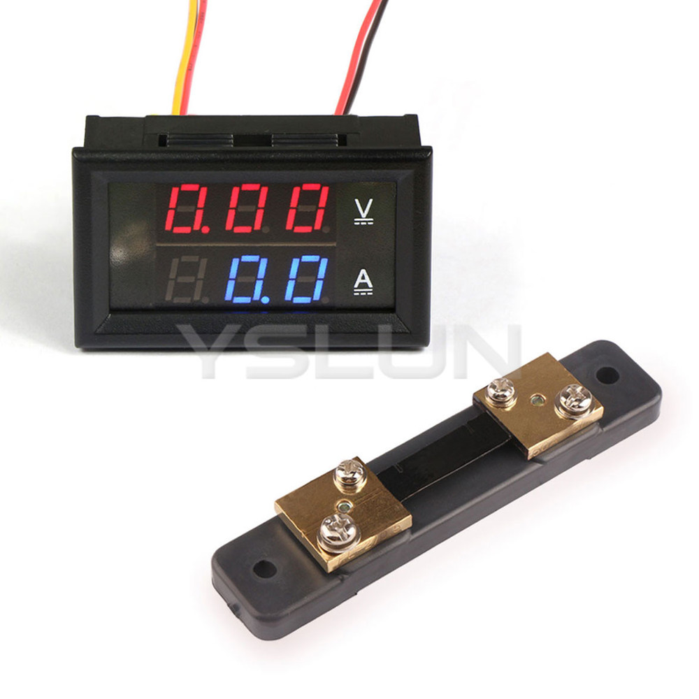 dc 0 100v 50a digital voltmeter ammeter 2in1 dual display. Black Bedroom Furniture Sets. Home Design Ideas