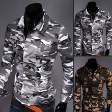 The spring of 2015 the new camouflage leisure denim shirt men jacket