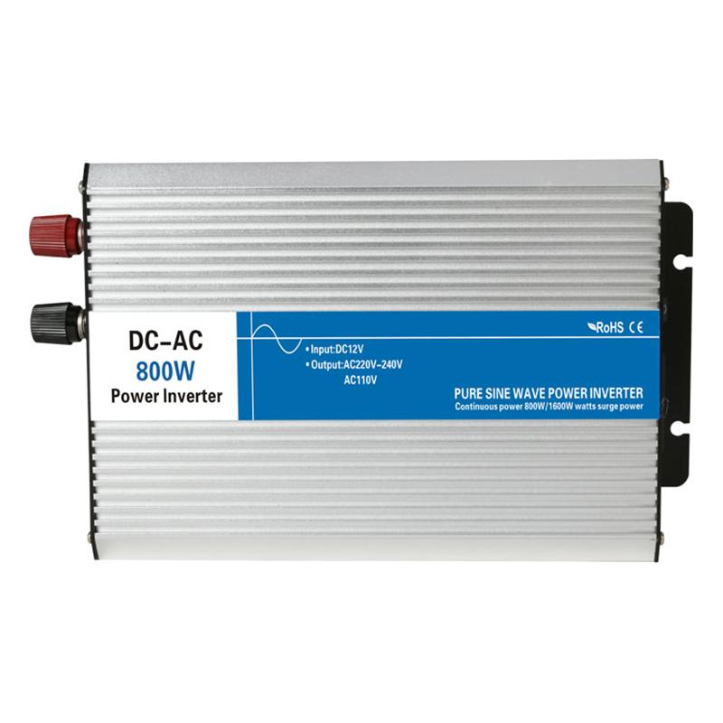 Power 800W DC Input 12V 24V 48V AC Output 110V 220V Pure Sine Wave Grid Tie Inverter custom Charge solar LED Display watt volt(China (Mainland))
