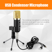 2015 MK-F100TL USB Condenser Sound Recording Audio Processing Wired Microphone with Stand for Radio Braodcasting KTV Karaoke(China (Mainland))