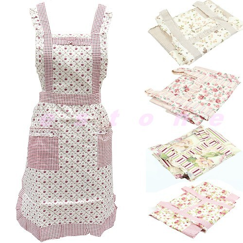 Cute Korean Style Small Flower Restaurant Kitchen Smock Aprons New(China (Mainland))