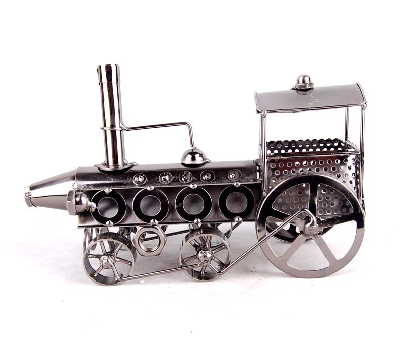 Sheet metal steam locomotive model collection restore ancient ways TV ark/wine supporter furnishing articles(China (Mainland))