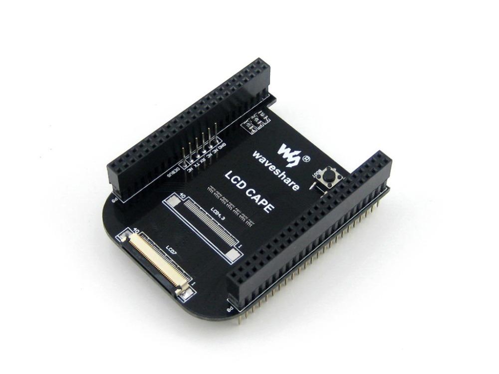 Черноты beaglebone развития борту комплект 512МБ DDR3 4ГБ 1ГГц ARM, как Cortex-A8 и платы расширения Мыс поддерживает 7-дюймовый ЖК-экран