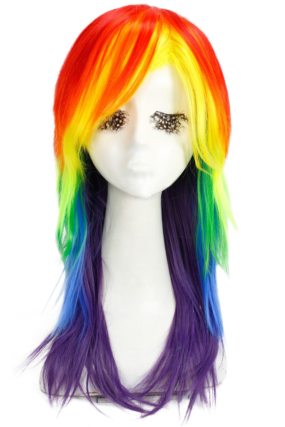Free Shipping 70CM Straight Synthetic Wig Rainbow My Little Pony Cosplay Wig(China (Mainland))