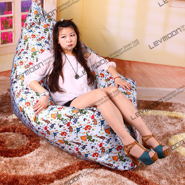 Фотография FREE SHIPPING outdoor bean bag sofa water proof  bean bag cover 140*180cm bean bag sofa outdoor animal printing bean bags
