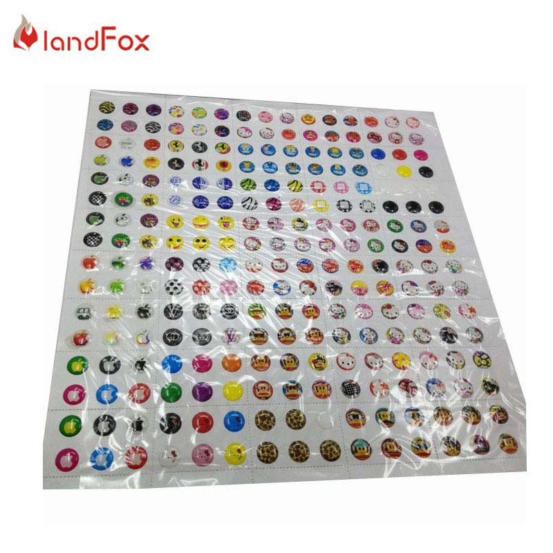 Free Shipping 2015 Hot Sale 330pcs/lot Cartoon Rubber Home Button Sticker For iPhone 4 5 6 6plus For ipad 2 3(China (Mainland))