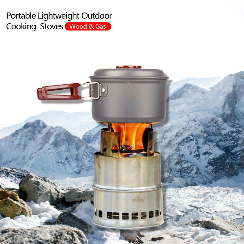 New design portable stainless steel lightweight wood stove for Outdoor wood cooking stove