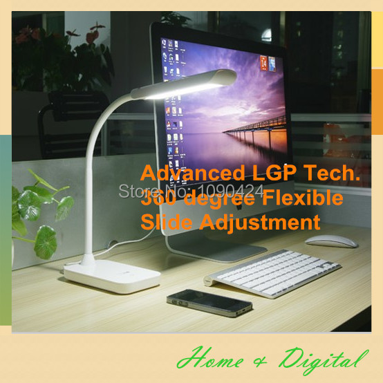Touch Sliding bright adjusted Flexible LED desk Lamp and table lamp, LED reading lamp w/ Table mode luminaria de mesa study lamp(China (Mainland))