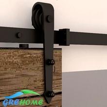 4.9FT/6FT/6.6FT Carbon steel  European Modern  Wood Sliding Barn Door hardware kits(China (Mainland))