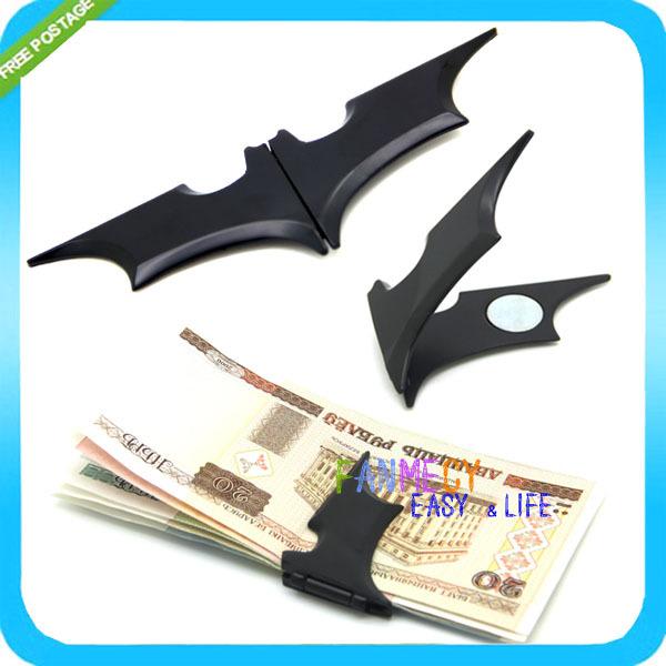 Matte Black Batman Money Clip Magnetic Folding Card Metal Holder Wallet Christmas Gift - Shenzhen Bowinner Co.,Ltd. store